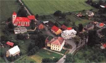 Letecký pohled na centrální část Bulovky